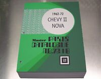 NOVA CHEVY II MASTER PARTS CATALOG 62-1972 Dec 71 print