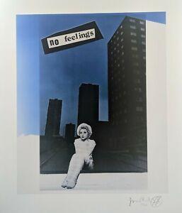 Jamie Reid No Feelings Signed Limited edition fine art print 13/300, Sex Pistols