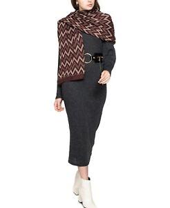 Vince Camuto Chevron Pointelle Knit Wrap Burgundy One Size V5841900