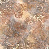 Tigerfish-Earth-Hand-Dyed Batik-Robert Kaufman-BTY-Wavy Lines-McKenna Ryan