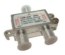 Universal Sat / Kabel Verteiler Spliter 2-fach  5 - 2500 MHz Universal - Class A