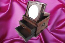 Schmuckschatulle Spiegel Holz Mahag. L.25cm  Geschenk Kassette Vintage Ästhetik