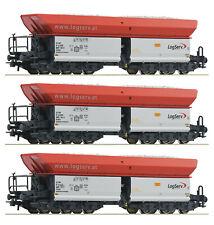 Roco 67154 - 3-tlg. Set: Selbstentladewagen, Logserv, Kalkzug, NEUHEIT 2020 selt