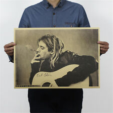 wall sticker cobain nirvana frontman kraft retro rock posters nostalgia posters*