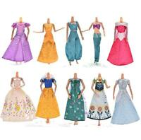 1X Handmake Wedding Gown Dress For Disney Barbies Cinderella Snow White Dolls EB