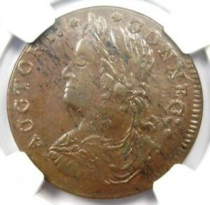 1787 Connecticut Draped Bust Left Coin R5 - NGC MS62 (BU UNC) - $7,000 Value!