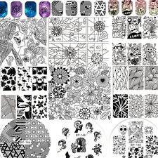 Born Pretty Para Uñas Stamping Placa Manicura Plantilla Decoración de plantilla de imagen del sello