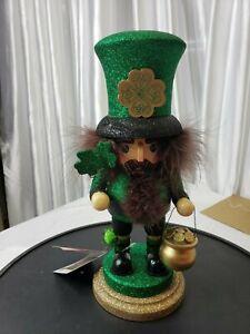 """Kurt S. Adler 12"""" St Patrick's day Nutcracker"""