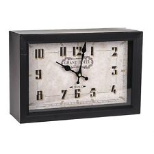 Vintage French Style Shabby Chic Black Grand Hotel Clock - Brand New
