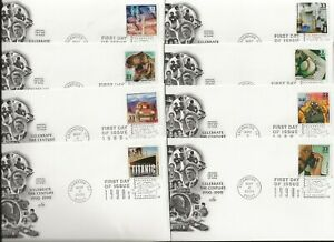 fifteen (set) 2000 cacheted first day covers -  20th cent. decades -  the 1990s