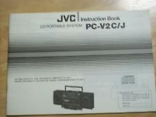 Original Owner/ User Manual for the JVC PC-V2 C J Boombox Radio System