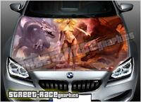 212 Car bonnet hood wrap printed graphics decals AIR RELEASE vinyl - dragons