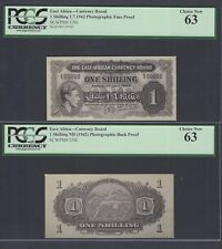 East Africa One Shillings 1-7-1942 Pick Unlisted Photograph Proof Uncirculated