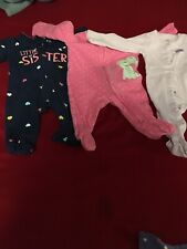 Newborn girl clothes 31 Piece lot. Mixed brands. Gently worn.