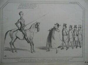 John Doyle HB Political Caricature Don Quixote Liberating the Galley Slaves 1836