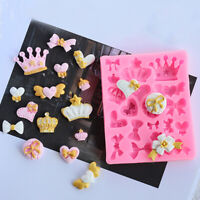 Silicone 3D Crown Fondant Cake Chocolate Sugarcraft Mold Baking Mould DIY Pink