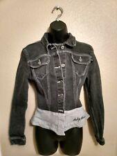 Baby Phat cute black jean jacket, size L