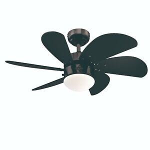 """Westinghouse Turbo Swirl 30"""" Gun Metal Ceiling Fan with Light Kit"""