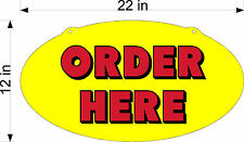 SINGLE SIDED DIECUT PLEXIGLASS SIGN ORDER HERE NEW RED ON YELLOW