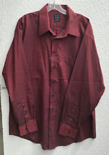 Men?s Joseph and Feiss Non Iron Size 17 34/35 Red Button Front Shirt Cotton