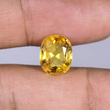 VVS Natural Yellow Sapphire 5.10 Cts Highly Lustrous Top Quality Gemstone Ceylon