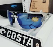 """COSTA DEL MAR silver/blue """"GALVESTON"""" POLARIZED 580P sunglasses NEW IN BOX!"""