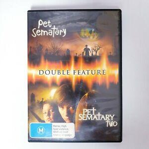 Pet Sematary 1 & 2 Double Movie DVD Region 4 Free Postage - Thriller