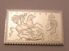 Silver Jubilee Queen Elizabeth Stamps Of Royalty Sterling Silver #22 Dragon