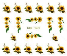 Nail Art Water Transfer Stickers Decal Pretty Sunflowers KoB-1075