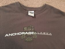 Gray Medium Anchorage Alaska Thunderbird Native Tribal T-Shirt City State