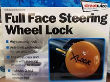 Streetwize SWUXSL2 Full Face Round Steering Wheel Lock - Yellow