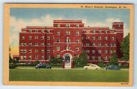 Vintage Linen Postcard St. Mary's Hospital Huntington West Virginia WV