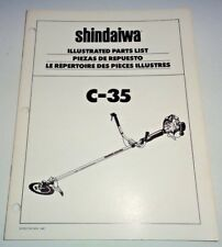 Shindaiwa C-35 Trimmer/Brush Cutter Illustrated Parts List Manual Catalog book