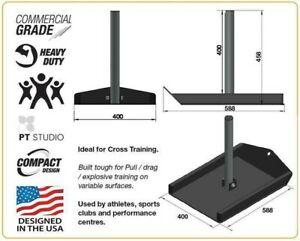 Force USA Fatboy Pull Weight Sled PLUS Strap CrossFit Training Gym