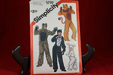 Vintage Simplicity 5739 Animal Costume Patterns Size 10-12