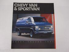 1987 Chevrolet Chevy Van Sportvan G10 G20 G30 Sales Brochure Dealer Literature