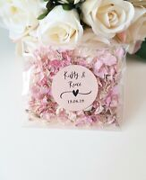 PERSONALISED Wedding Confetti Toss bag Biodegradable Petal - READY TO USE