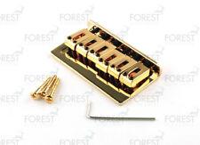BN-015, Hardtail string-thru bridge for Telecaster ® Stratocaster ® guitar, gold