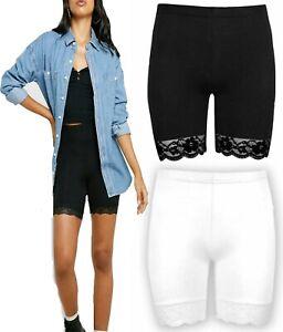Womens Cycling Lace Shorts  Dancing Biker Hot Pants Legging Active Casual Sports