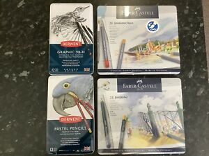 Job Lot Of Faber Castell And Derwent Pencils