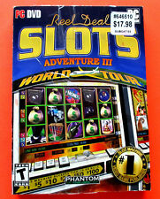 Reel Deal Slots Adventure III: World Tour (PC, DVD)  *** FREE Shipping ***