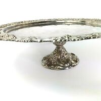 "Godinger Silver Art Silver Plated Grape design pedestal tray 12"""