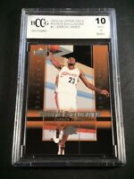 LEBRON JAMES 2003 UPPER DECK #1 ROOKIE EXCLUSIVES RC BGS BCCG GRADED 10
