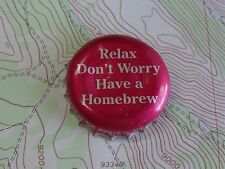 BEER Bottle Crown Cap ~*~ Relax, Don't Worry, Have A Homebrew ~*~ Brewing Supply