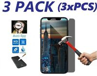 3X-Anti-Spy Privacy Tempered Glass Screen Protector For Apple iPhone X