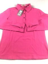 Tehama Golf Shirts Ladies Size M Long Sleeve Pink MSRP $77 NEW