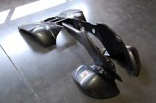 HONDA TRX 400EX 05 - 07 BLACK CARBON FIBER PLASTIC FRONT AND REAR FENDER SET
