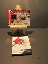 2010-11 Panini All Goalies Stopper Sweaters  Black #6 Craig Anderson + 13 Base