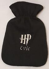Harry Potter HP logo hot water bottle personalised girls ladies xmas gift Black