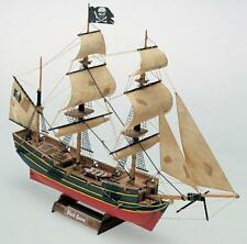 """Intricate, Mini Wooden Model Ship Kit by Mamoli: the """"Black Queen"""""""